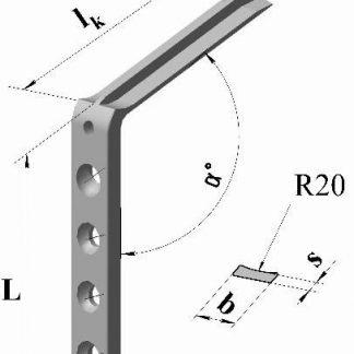Пластина угловая клинковая малая уг.120гр., дл.86мм, клинок 75мм (4)