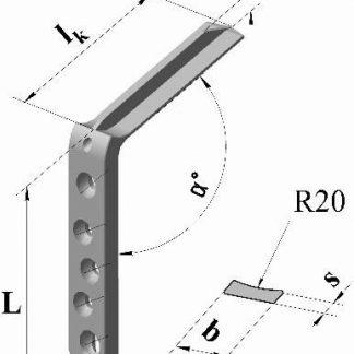 Пластина угловая клинковая малая уг.120гр., дл.71мм, клинок 55мм (3)