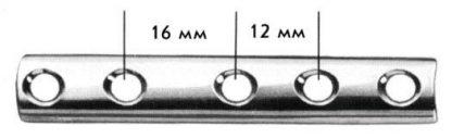 Пластина трубчатая с пазами под винты диам.3,5мм, дл.145мм (12 п)
