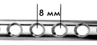 Пластина трубчатая с пазами под винты диам.2,7мм, дл.95мм (12 п)